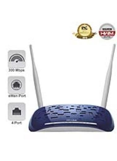 TP-LINK TD-W8960N 300Mbps 4 PORT KABLOSUZ 10 VPN ADSL2+ MODEM 2x5dBi ANTEN Renkli